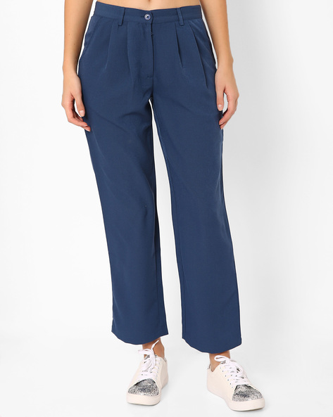 Ankle-Length Pleated Trousers By TAANZ WOMENS ( Assorted ) - 440723449004