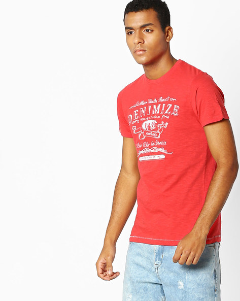 Crew-Neck Slim T-shirt By Killer ( White )