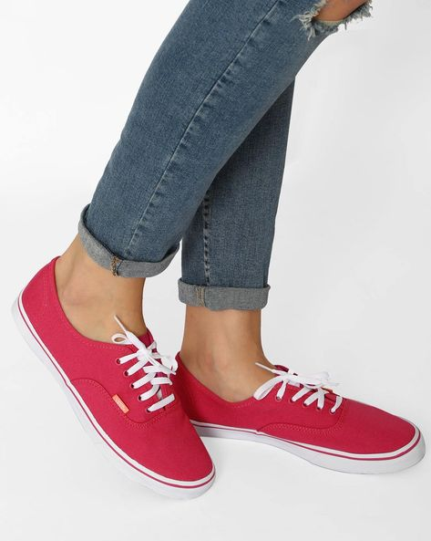 Authentic Lo Pro Casual Shoes By Vans ( Pink )