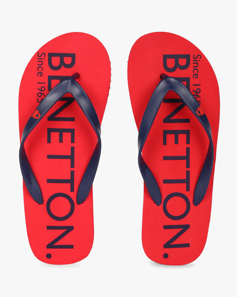 Thong-Style Flip-Flops By UNITED COLORS OF BENETTON ( Red )