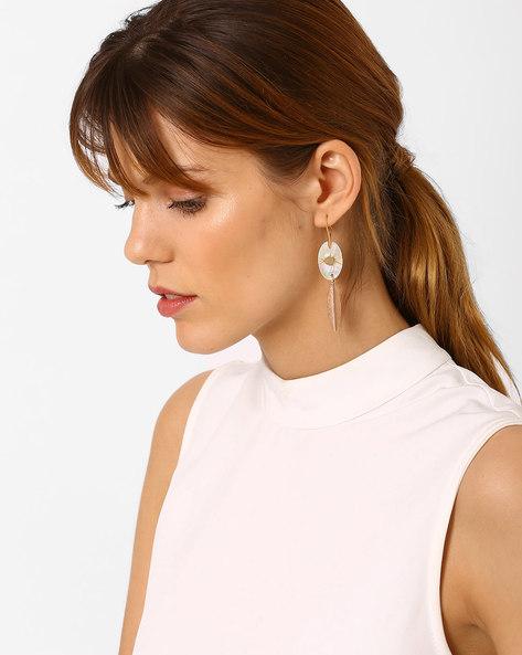 Beaded Drop-Earrings By Pipa Bella ( Gold )