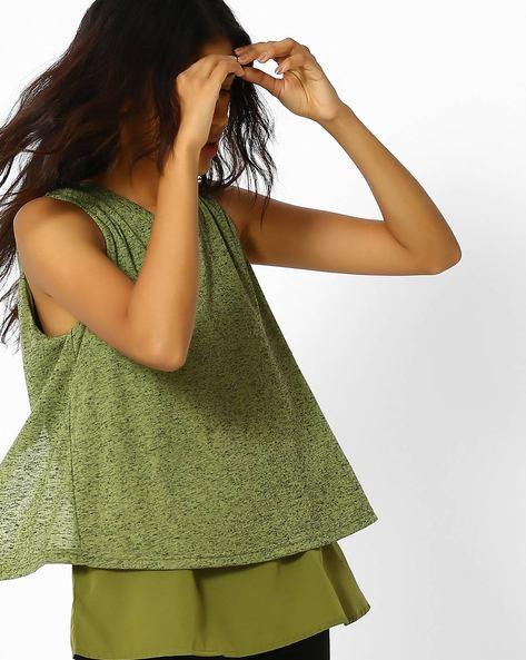 Sleeveless Layered Top By Vero Moda ( Green )