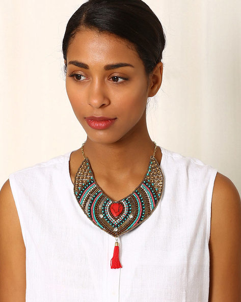 Beaded Statement Necklace By Indie Picks ( Multi ) - 460042613001