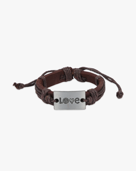 Bracelet With Metal Accent By ALPHA MAN ( Brown ) - 460134303001