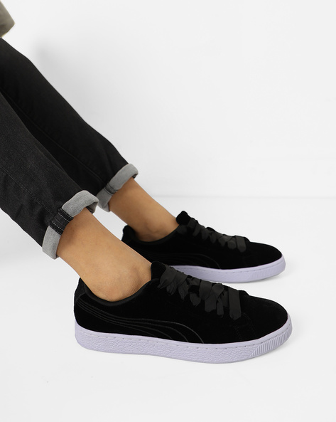 Casual Shoes With Lace-Ups By Puma ( Blue )