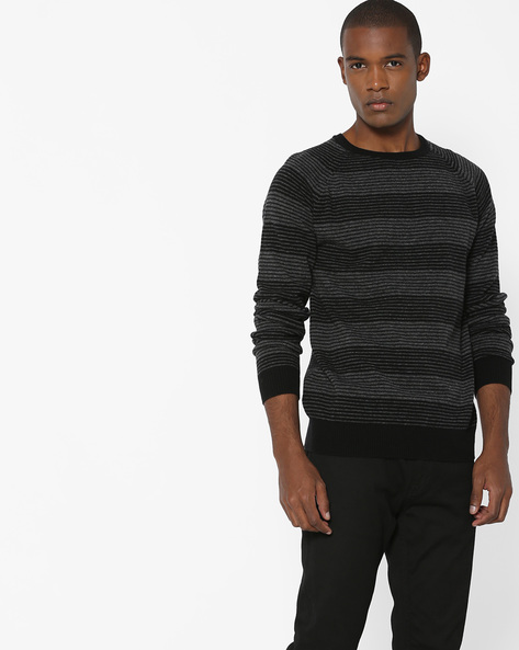 Stripes Crew-Neck Pullover By LEVIS ( Black )