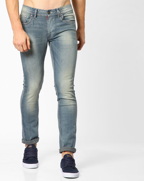 Lightly-Washed Skinny Fit Jeans By FLYING MACHINE ( Assorted )