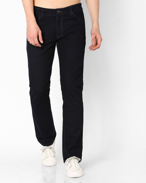 Mid-Rise Slim Fit Jeans By JOHN PLAYERS ( Mediumblue ) - 440703918002