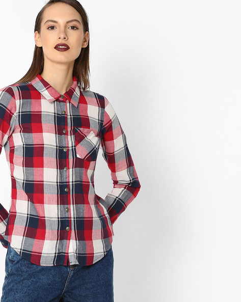 Checked Shirt With Patch Pocket By Alibi ( Multi ) - 460129518001