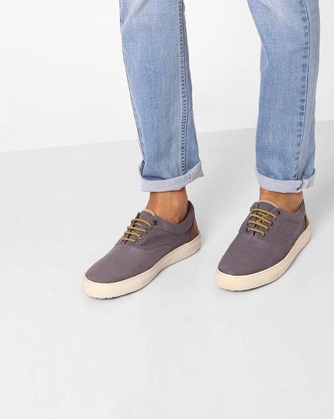 Canvas Lace-up Casual Shoes By Carlton London ( Grey )