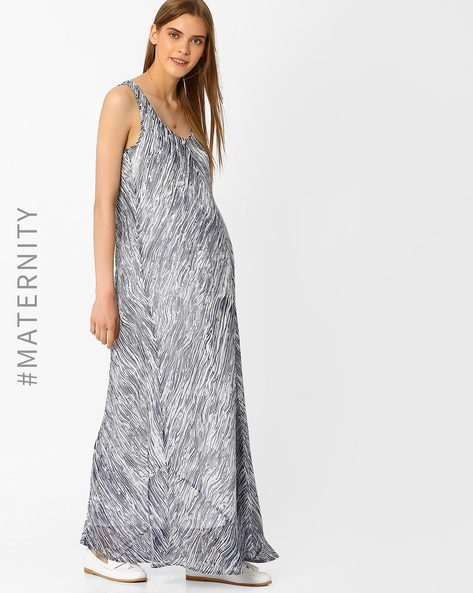 Maternity Maxi Dress By Oxolloxo ( Blue )