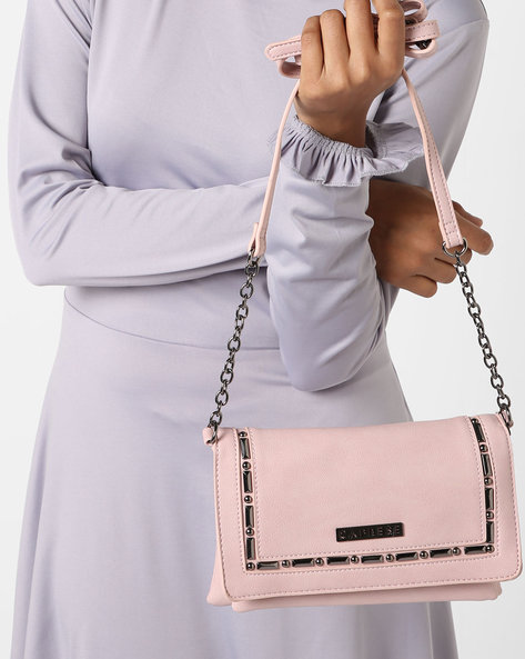 Sling Bag With Embellished Flap Closure By CAPRESE ( Pink )