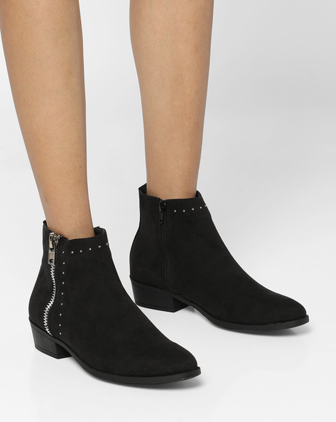 Heeled Boots With Embellishments By Truffle Collection ( Black )
