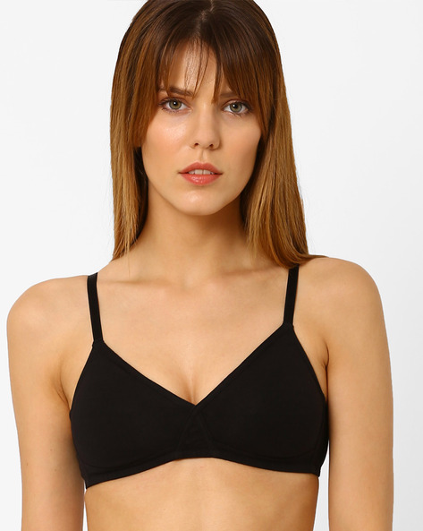 T-shirt Bra With Criss-Cross Styling By Zivame ( Black )