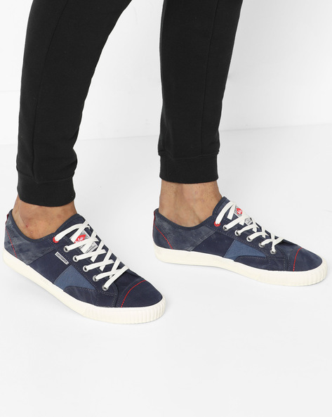 Low-Top Lace-Up Shoes By Lee Cooper ( Navy )