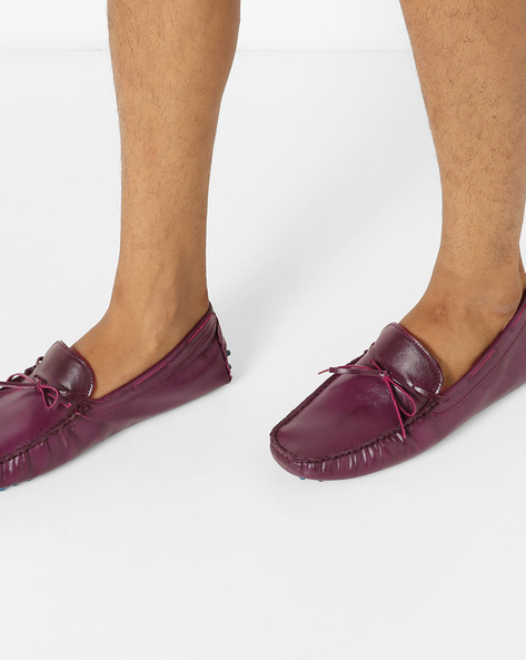N9-Treated Boat Shoes With Tie-Up By AJIO ( Bordo )