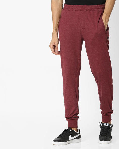 Lounge Pants With Elasticated Waist By HANES ( Maroon )