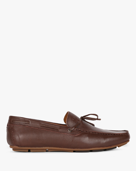 Leather Loafer Casual Shoes By UNITED COLORS OF BENETTON ( Brown )
