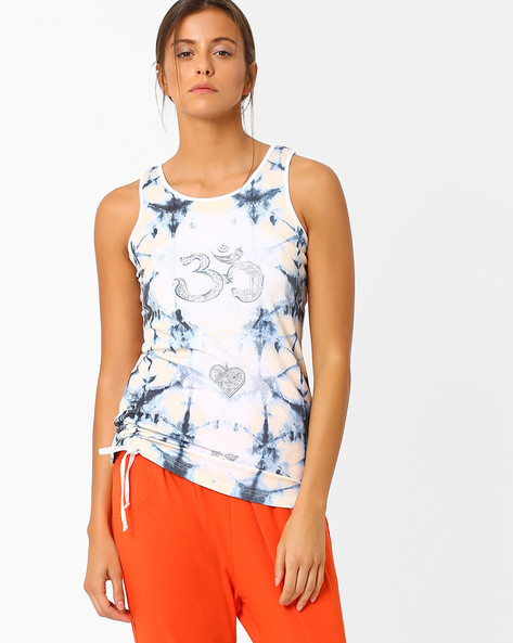 Graphic Print Tank Top By AJIO ( Navyblue )