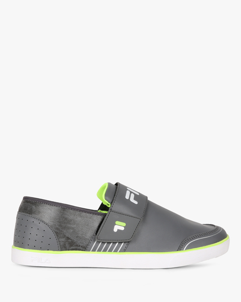 Rock In Textured Slip-On Shoes By FILA ( Grey )