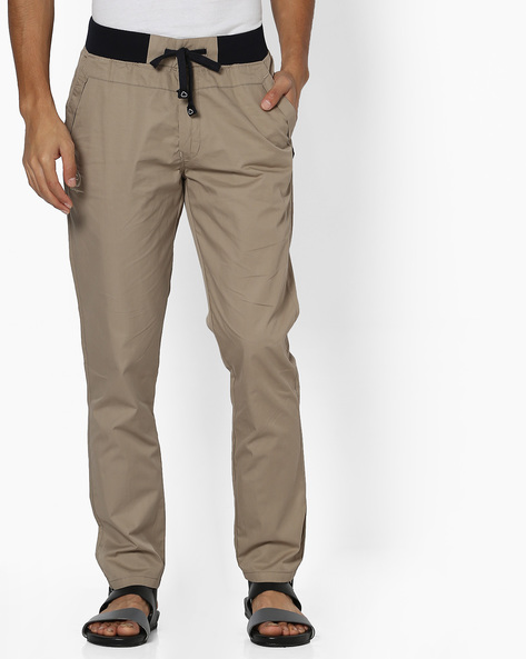 Lounge Pants With Elasticated Waist By Sweet Dreams ( Beige )
