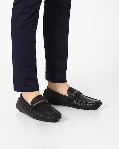 Casual Slip-On Shoes By ID ( Black )