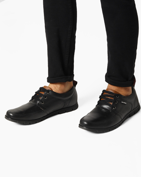 Genuine Leather Casual Shoes By Lee Cooper ( Black )