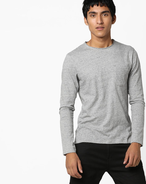 Slim Fit T-shirt With Patch Pocket By Jack & Jones ( Cloud )
