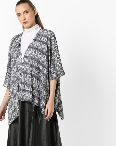 Printed Open-Front Shrug By And ( Multi )