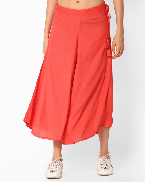 Culottes With Tie-Up By COLOUR ME ( Coral )