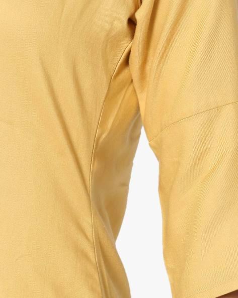 Straight Kurta With Embroidery By Breya ( Yellow )