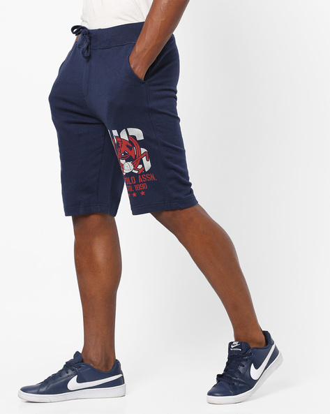 Mid-Rise Shorts With Drawstring Waist By US POLO ( Indigo )