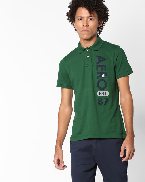 Polo T-shirt With Placement Applique By Aeropostale ( Darkgreen )