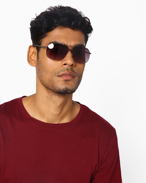 Full-Rim Square Sunglasses By Farenheit ( Purple )