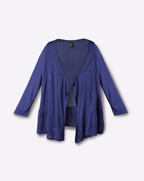 Open-Front Shrug By RIO GIRLS ( Navy )