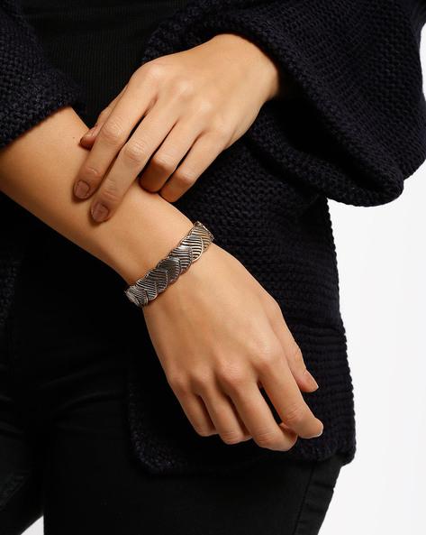 Textured Cuff Bracelet By Style Fiesta ( Gold )