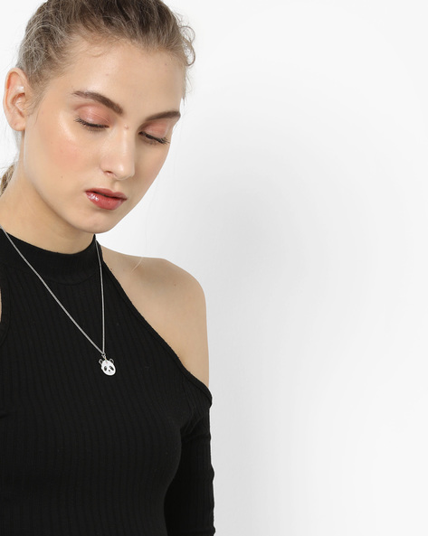 Short Necklace With Panda Pendant By TALLY WEiJL ( Grey )