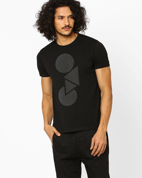 Graphic Print Slim Fit T-shirt By Lee ( Black )