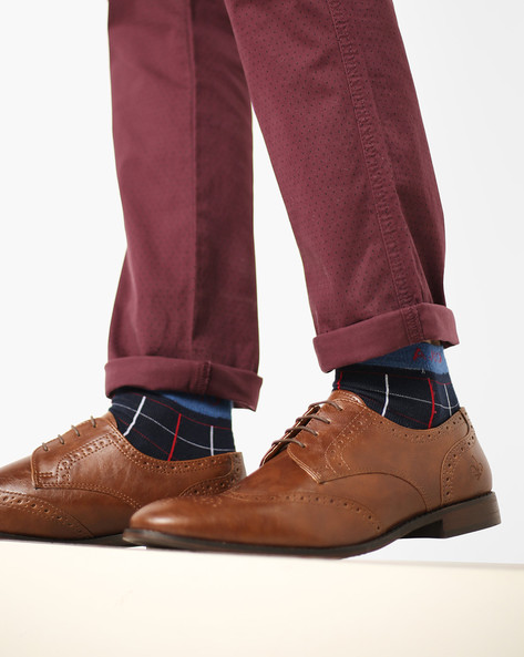 Brogue Derby Shoes By Bond Street By Red Tape ( Tan )