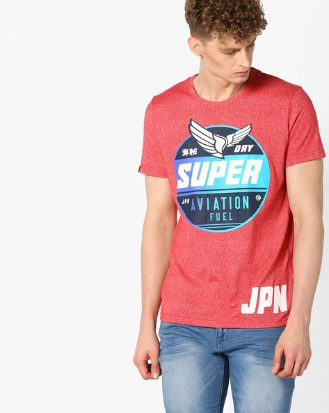 Aviation Entry Crew-Neck T-shirt By SUPERDRY ( Oxs )