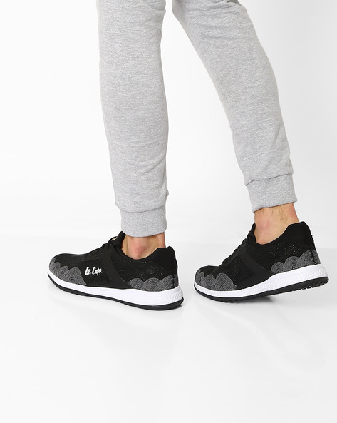 Lace-Up Sports Shoes By Lee Cooper ( Blacksilver )
