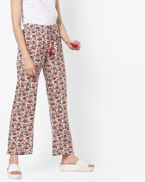 Printed Pyjamas With Drawstring By Ginger By Lifestyle ( Offwhite )