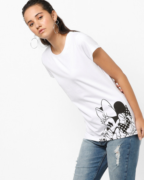 Mickey Mouse Print Top By Ginger By Lifestyle ( White )