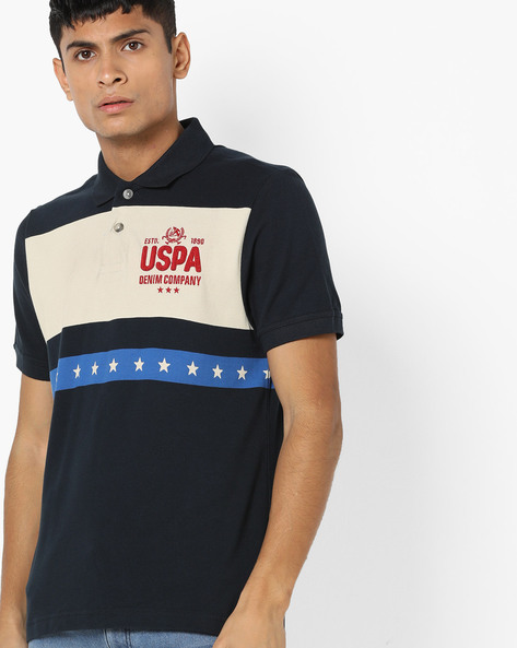 Printed Polo T-shirt By US POLO ( Assorted )
