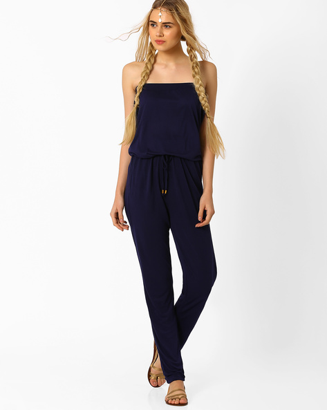 Tube Jumpsuit By AJIO ( Navyblue )