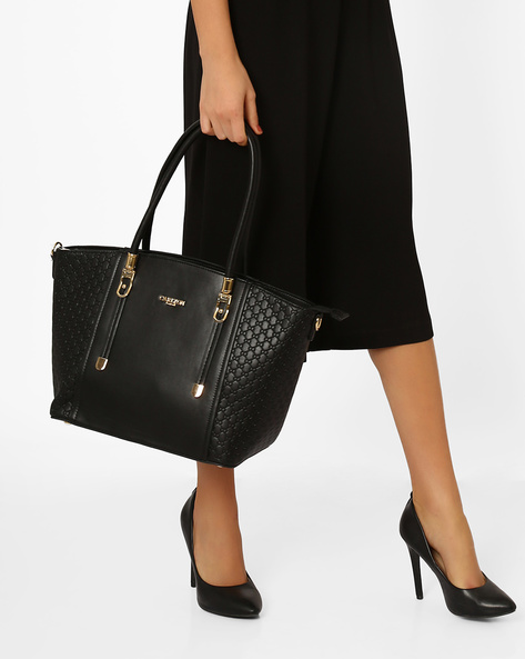 Panelled Shoulder Bag By Carlton London ( Black )