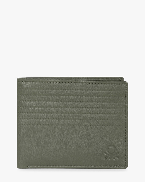 Textured Bi-Fold Wallet By UNITED COLORS OF BENETTON ( Olive )