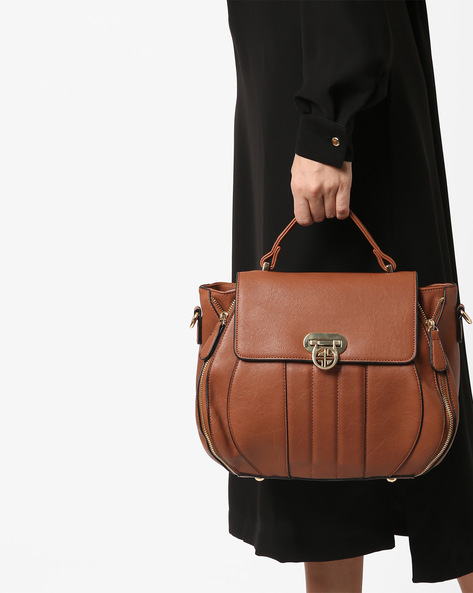 Panelled Sling Bag By Carlton London ( Tan )