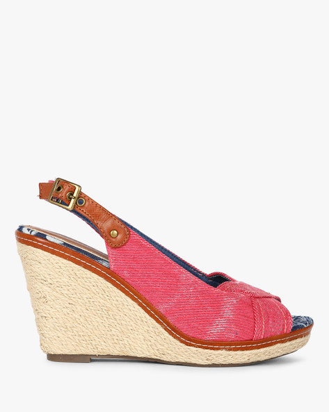 Peep-Toe Wedges With Sling Back By Dummy ( Multi )