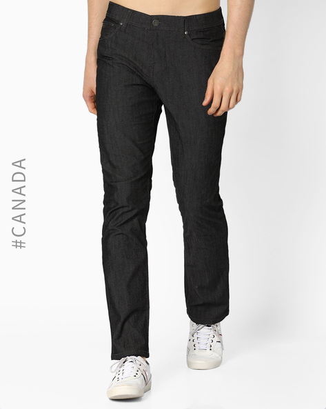 Mid-Rise Classic Fit Jeans By Point Zero ( Darkgrey )